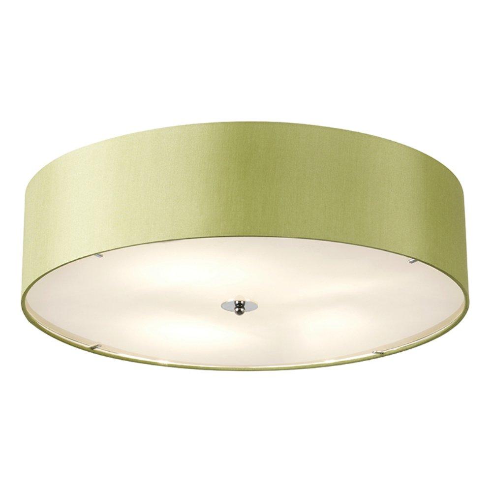 Endon Lighting Franco FRANCO 60GR Green Semi Flush Ceiling Light Endon Ligh