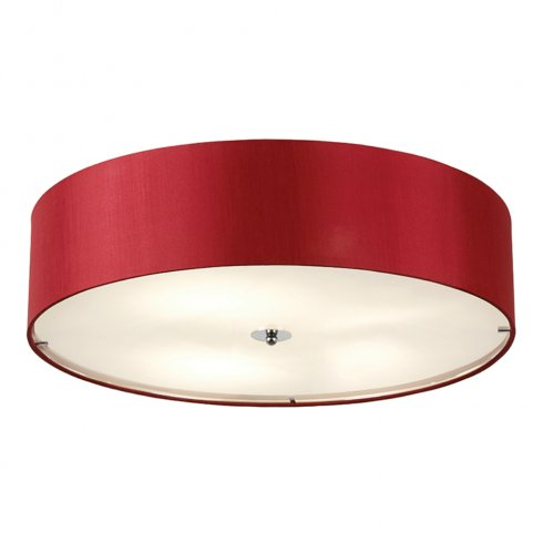 Red ceiling spotlights