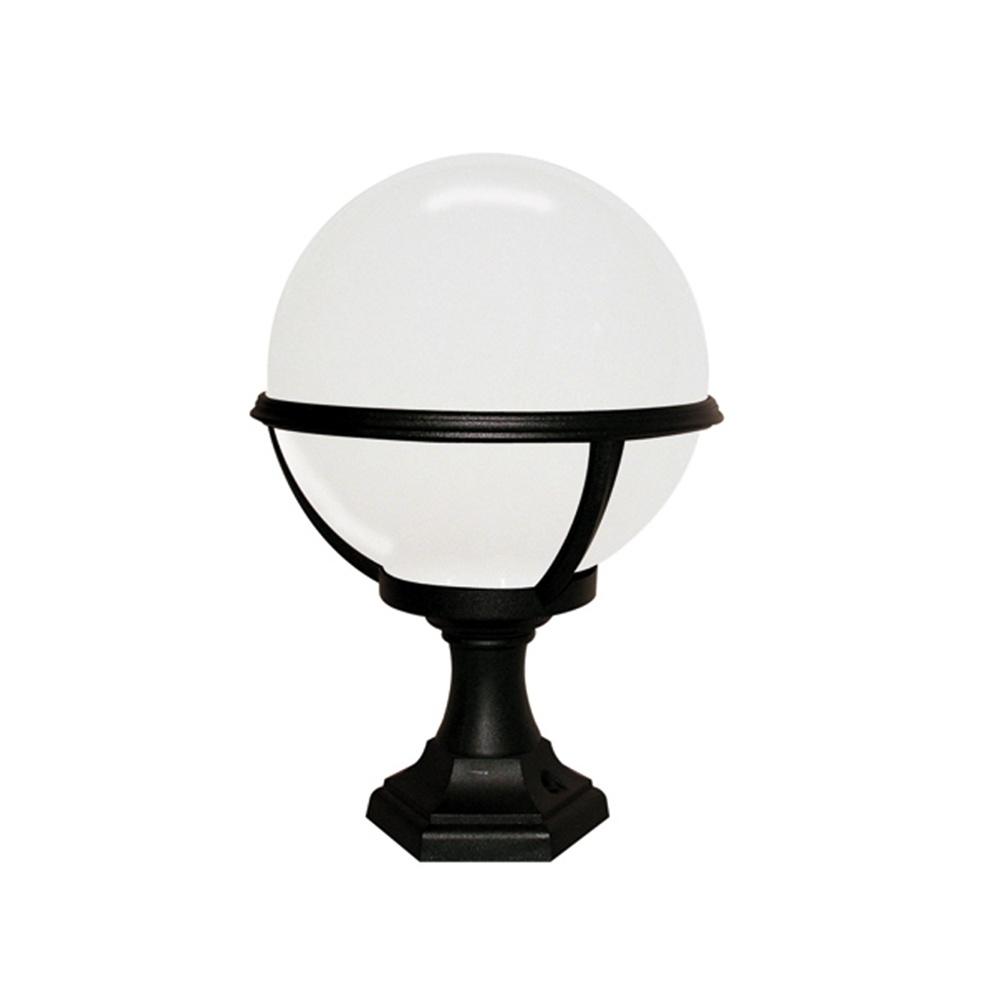 Warwick Pedestal Lantern Light Black: Elstead Lighting Glenbeigh Black & White Outdoor Pedestal