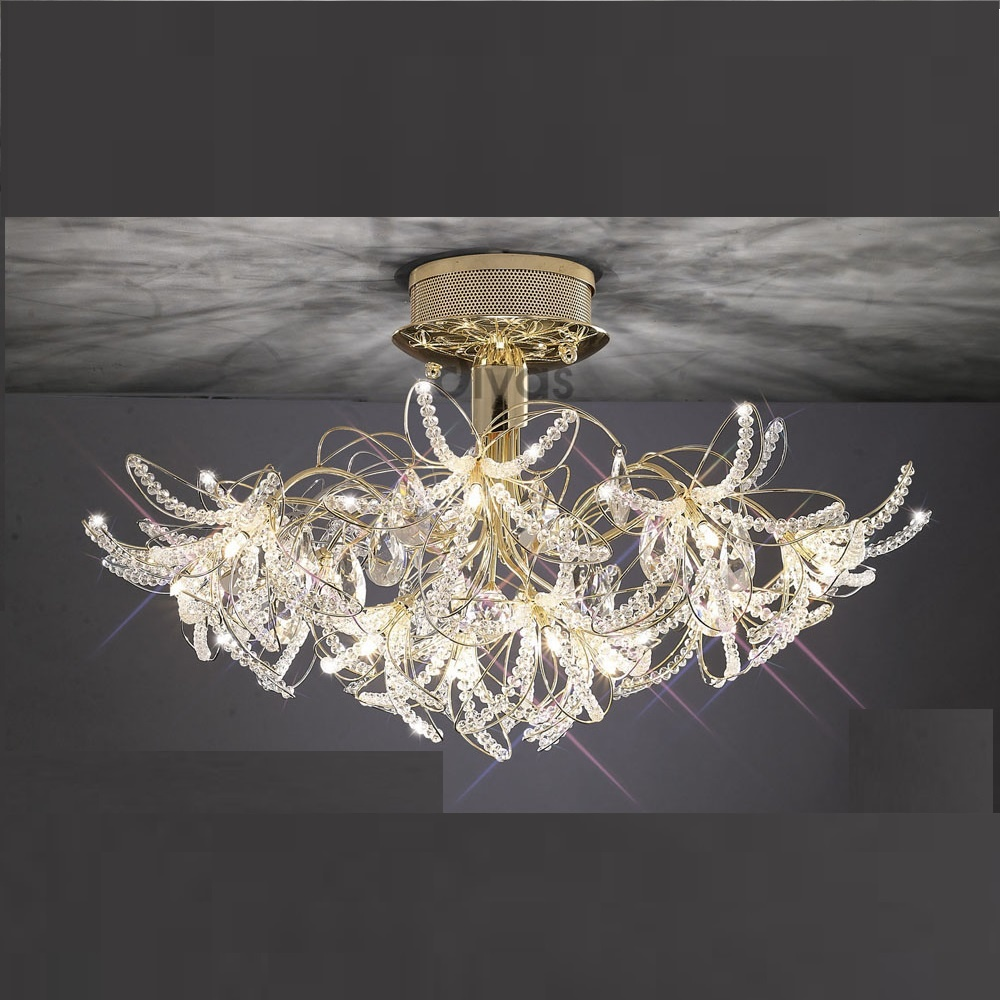 Diyas Uk Kenzo Il30890 Gold Crystal 12 Light Ceiling