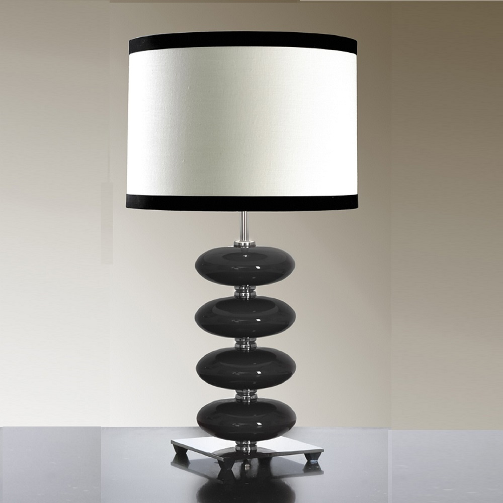 home elstead lighting elstead lighting onyx black table lamp. Black Bedroom Furniture Sets. Home Design Ideas