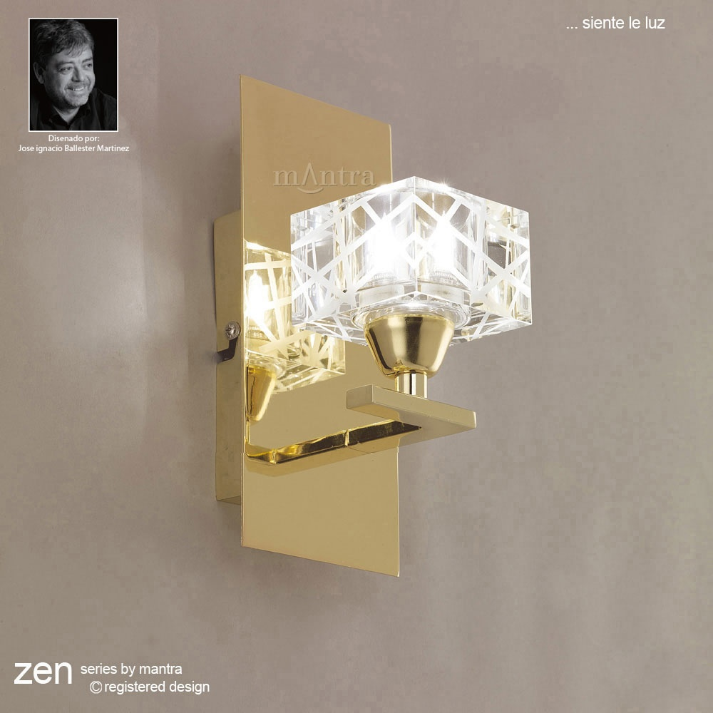 Mantra Spain Zen M1446pb Polished Brass Wall Light