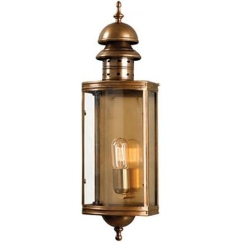 Elstead Downing Street Outdoor Wall Lantern Brass