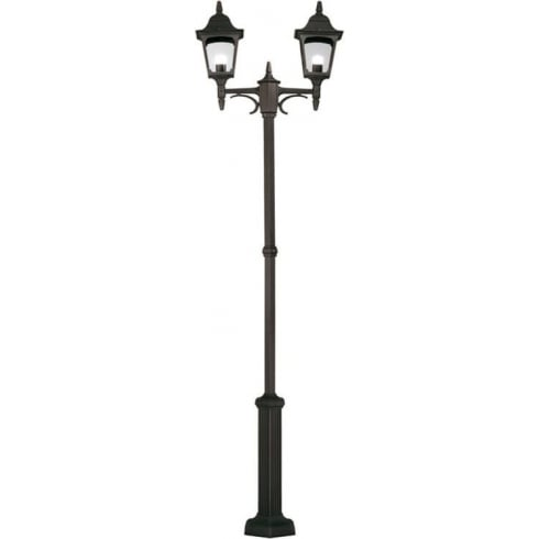 Elstead Chapel Twin Lamp Post Black