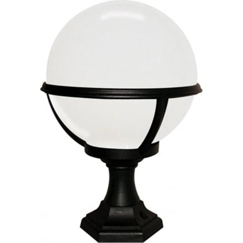 Glenbeigh Black & White Outdoor Pedestal Lantern