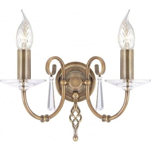 Elstead Aegean Twin Wall Light Aged Brass