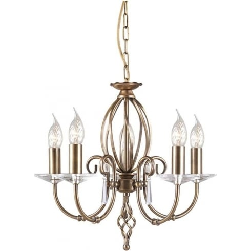 Elstead Lighting Aegean AG5 Aged Brass 5Lt Chandelier
