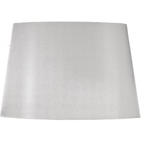Elstead Lighting Silver Tapered Oval Shade With Silver Lining 53cm