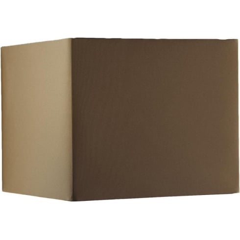 Elstead Lighting Brown Square Cube Shade 30cm