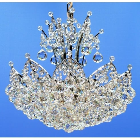 Fantastic Lighting Domingo 3721/38/4 Chrome With Crystal Balls Chandelier