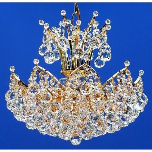 Fantastic Lighting Domingo 3821/38/4 Gold Plated With Crystal Balls Chandelier