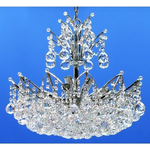 Fantastic Lighting Domingo 3721/50/9 Chrome With Crystal Balls Chandelier