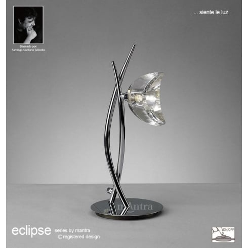 Mantra Eclipse M1459 Polished Chrome Single Light Table Lamp