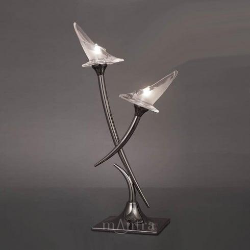 Mantra Flavia M0310 Polished Chrome Twin Light Table Lamp