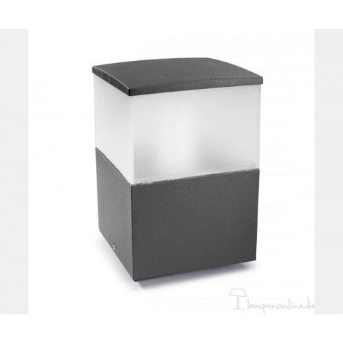 Leds C4 Cubik 10-9386-Z5-M3 Urban Grey Satin Polycarbonate Glass Pedestal Light