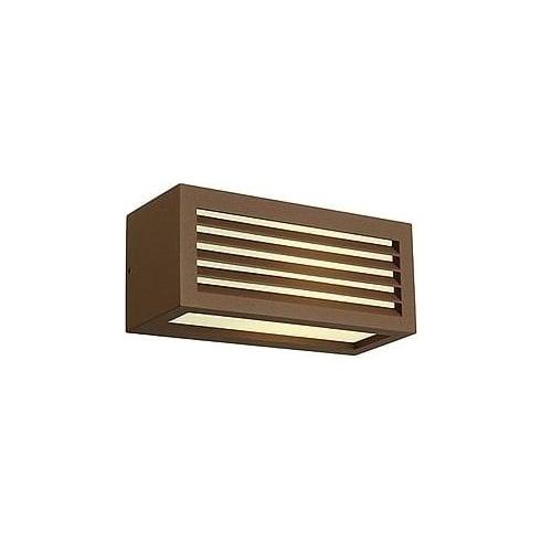 Intalite 232497 Box-L E27 Square Rust-Coloured Wall Light