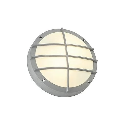 Intalite UK Bulan Grid 229084 Round Silver Grey Wall Light