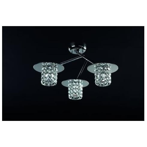 Impex Russell VETA CFH211151/03/CLR/PL Polished Chrome With Clear Glass Flush Pendant