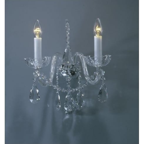 Impex Russell BILA CB301167/02/WB/CH Polished Chrome With Crystal Detail Wall Light
