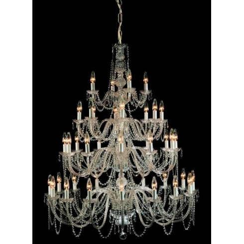 Impex Russell MODRA CP06033/40/CH Polished Chrome With Crystal Detail Chandelier