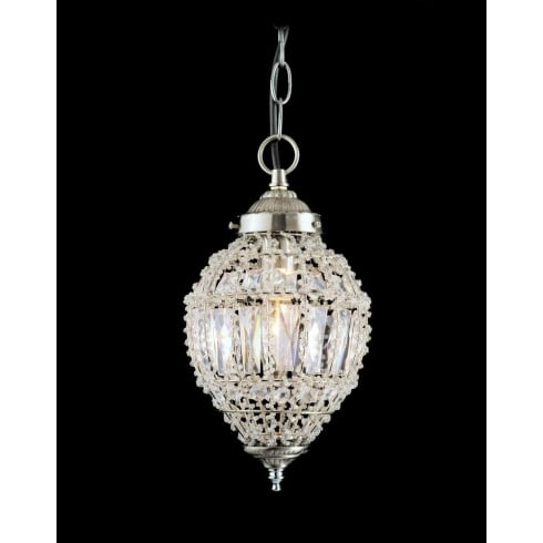 Impex Russell BOMBAY CO01219/01/S Crystal Beaded Pendant Small