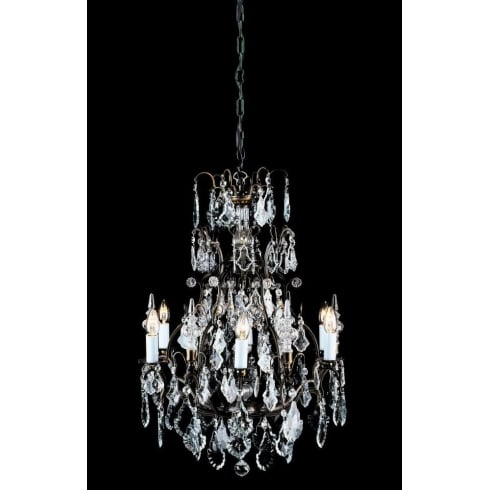 Impex Russell STRAZ CB00501/06 Antique Bronze With Crystal Detail Chandelier
