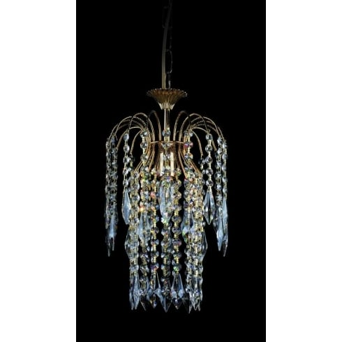 Impex Russell SHOWER ST01900/20/01/G Gold With Crystal Detail Chandelier