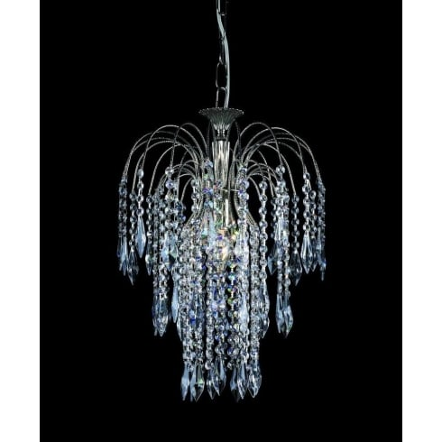 Impex Russell SHOWER ST01900/35/01/AN Antique Nickel With Crystal Detail Chandelier