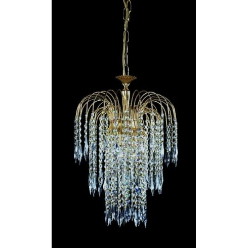 Impex Russell SHOWER ST01900/40/03/G Gold With Crystal Detail Chandelier