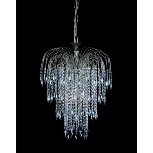 Impex Russell SHOWER ST01900/47/06/AN Antique Nickel With Crystal Detail Chandelier