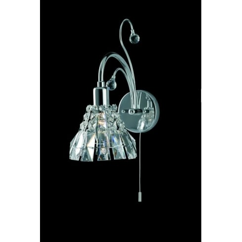 Impex Russell STRASBOURG CE00031/WB/CH Polished Chrome Wall Light