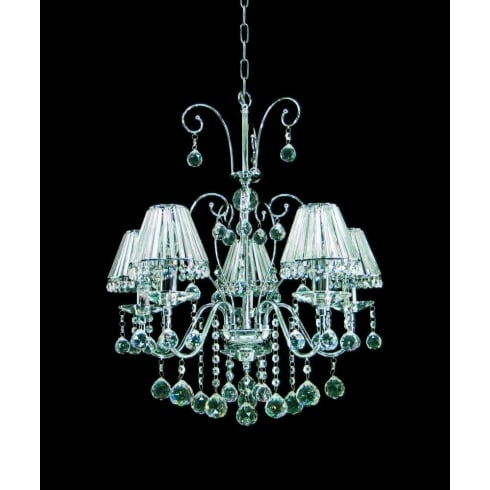 Impex Russell PERPIGNAN CE08800/05/CH Polished Chrome 5 Light Pendant