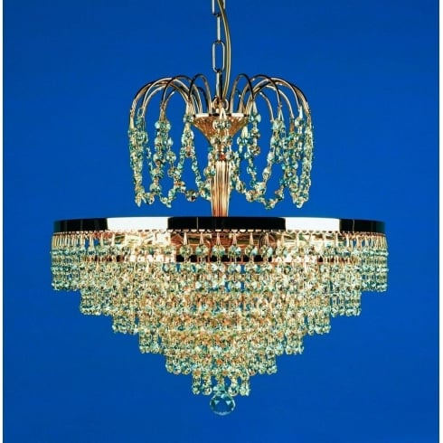 Impex Russell BREMEN ST00005/40/05/G Gold With Crystal Detail Chandelier