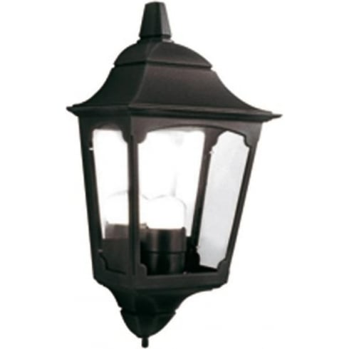 Elstead Lighting Chapel CP7/2 BLACK Outdoor Half Lantern