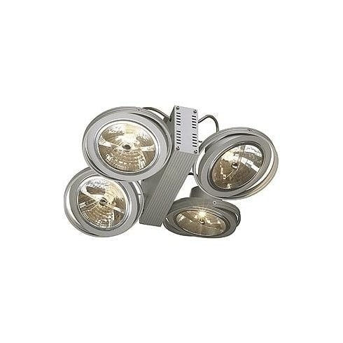 Intalite UK 149144 Tec 4 QRB Silver Grey Wall & Ceiling Light