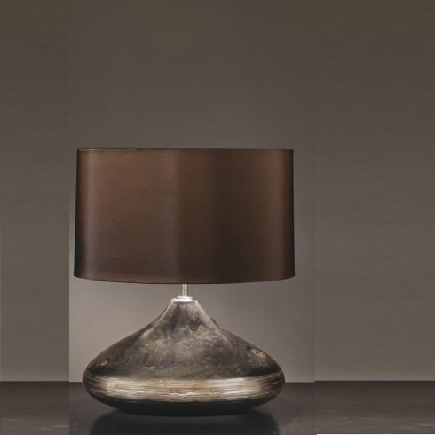 Elstead Lighting Columbus Silver & Turquoise Spinner Table Lamp