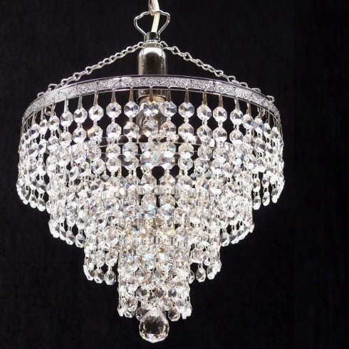 Fantastic Lighting Tiered 169/10/1 Chrome Crystal Trimmings Pendant
