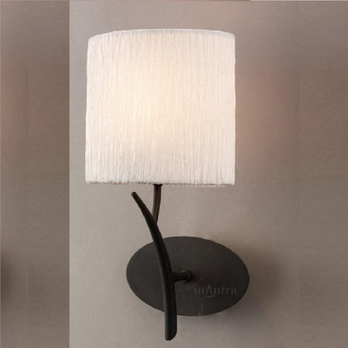 Mantra Eve M1154 Anthracite Single Lamp Wall Light with White Shade