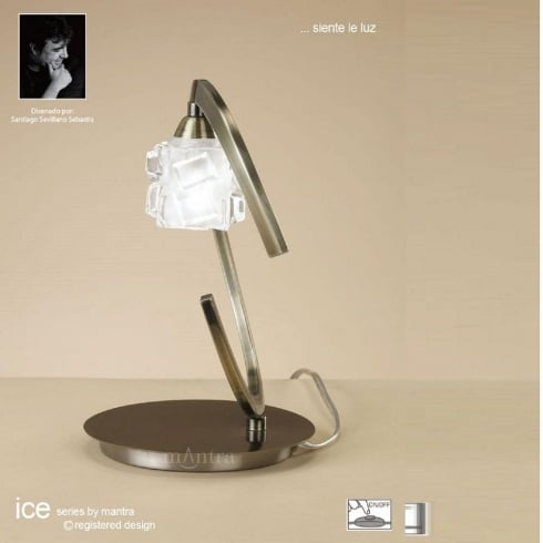 Mantra Spain Ice M1866 Antique Brass Single Light Table Lamp