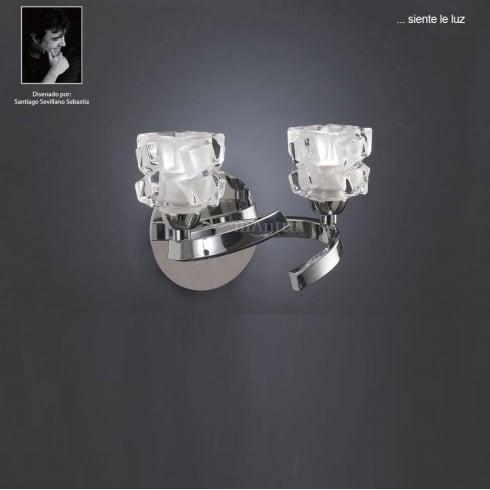 Mantra Ice M1844/S Polished Chrome Twin Lamp Wall Light