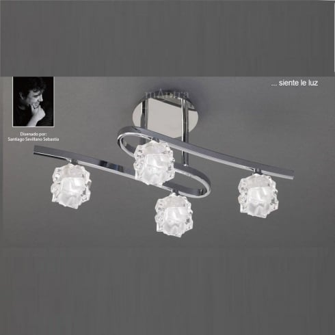 Mantra Ice M1843 Polished Chrome Four Lamp Ceiling Light