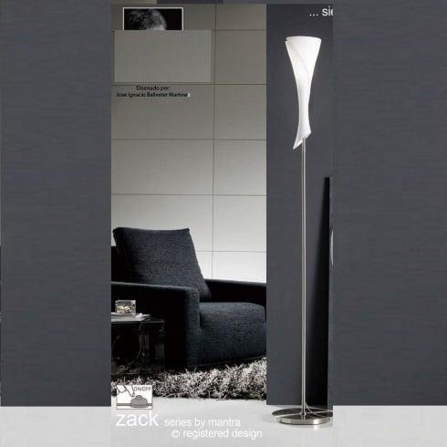 Mantra Zack M0775 Satin Nickel Single Light Floor Lamp