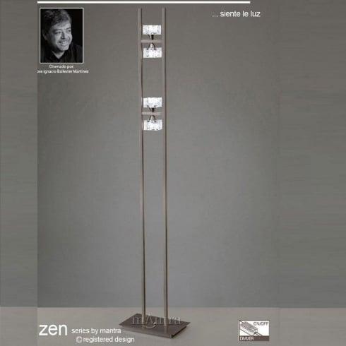 Mantra Zen M1448SN Satin Nickel Four Light Floor Lamp
