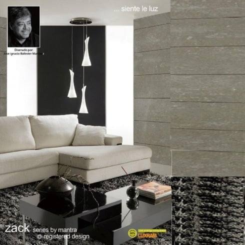 Mantra Spain Zack M0770 Satin Nickel Three Light Pendant
