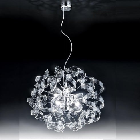 Metal Lux Astro 206.155.01 A498P Crystal Ceiling Light