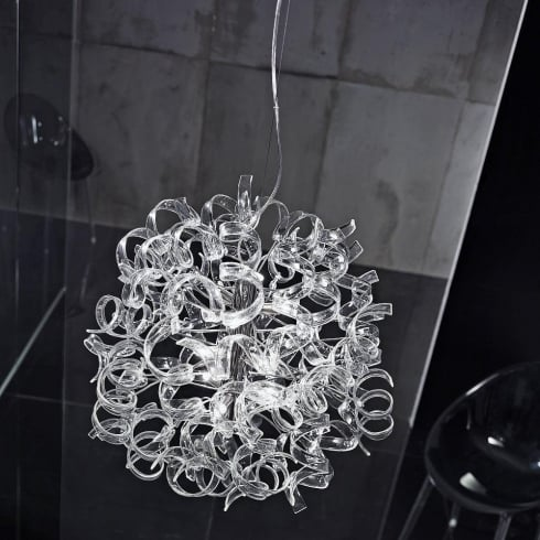 Metal Lux Astro 206.170.01 A650P Crystal Ceiling Light