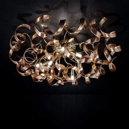 Metal Lux Astro 205.380.14 A770P Copper Ceiling Light