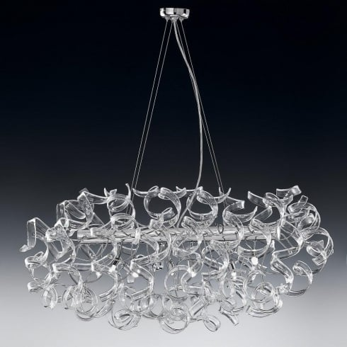Metal Lux Astro 206.520.01 A798P Crystal Ceiling Light