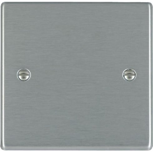 Hamilton Hartland 74BPS Satin Steel Single Blank Plate