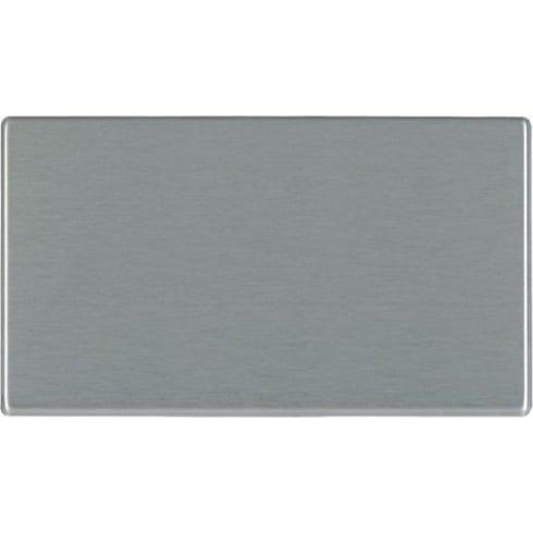 Hamilton Hartland 74CBPD Satin Steel Double Blank Plate